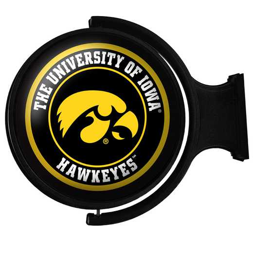 IA-115-01: GI Rotating  Wall Sign-Round-Bubble-Tigerhawk, Iowa